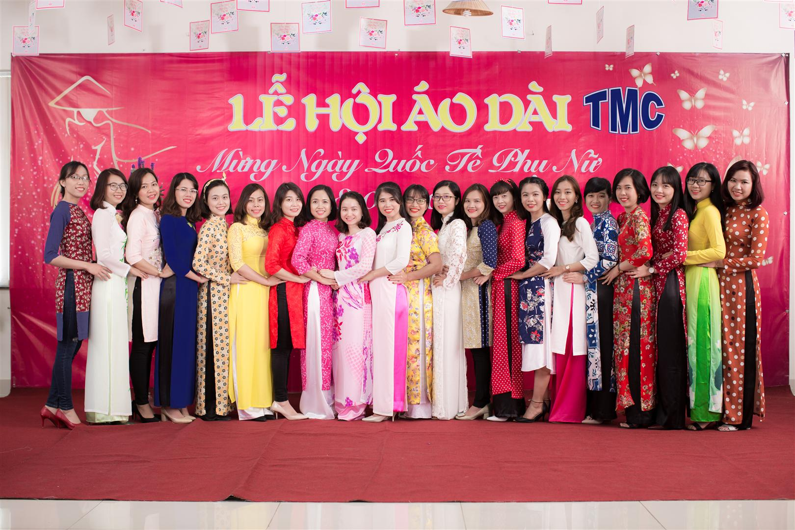 TMC celebrated Ao Dai festival on International Women's Day 8-3